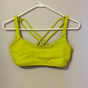 Lululemon Athletica Sports Bra Yellow 8